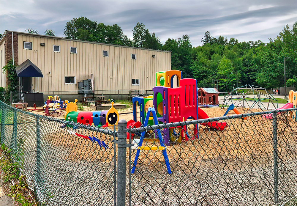 An enclosed playground is every child's favorite destination